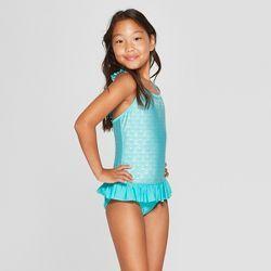 340f385ca4 Girls' Little Mermaid One Piece Swimsuit - Blue S in 2019 | Kid swim ...