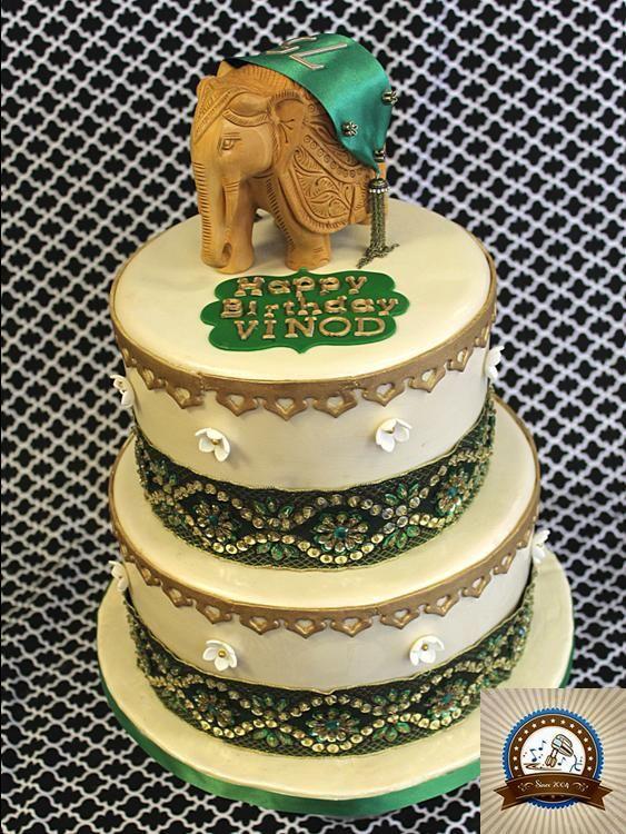 Peachy Elegant Indian 75Th Birthday Blue Note Bakery Austin Texas Funny Birthday Cards Online Fluifree Goldxyz