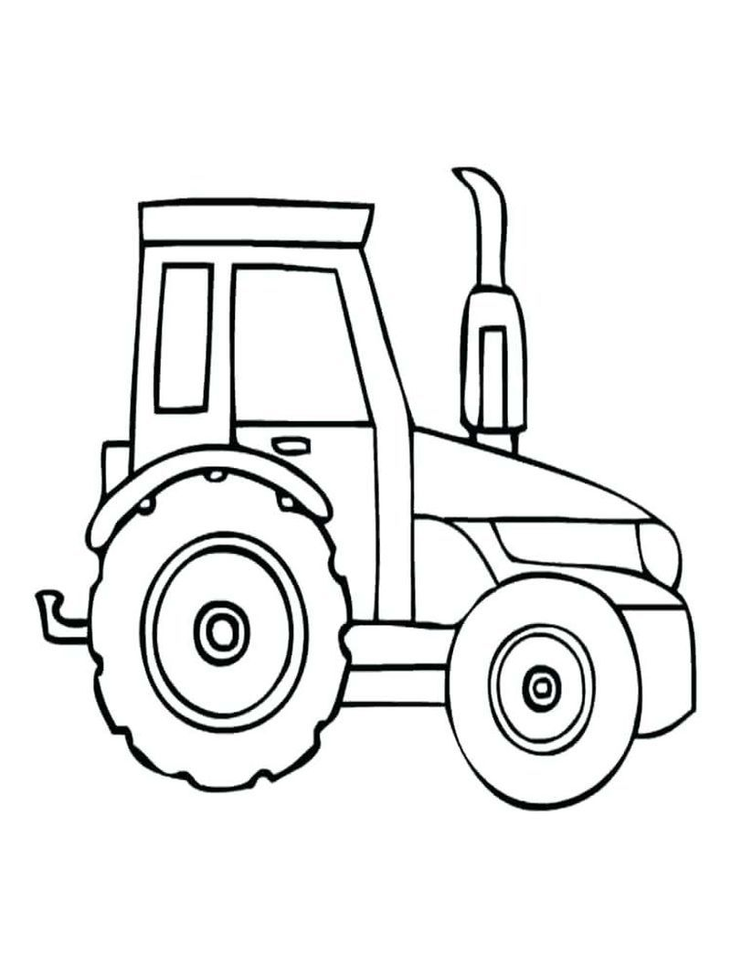 Printable Tractor Coloring Pages For Kids Tractor Coloring Pages Farm Coloring Pages Farm Animal Coloring Pages