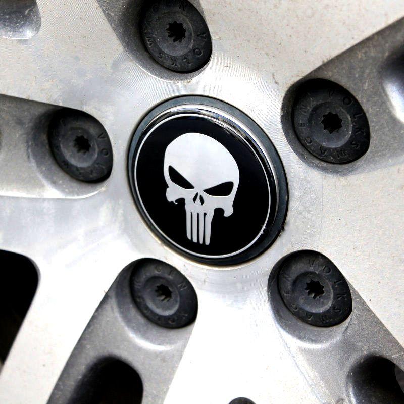Punisher Skull Logo Wheel Alloy Emblem These Awesome Punisher