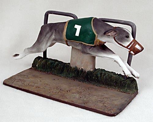 Greyhound Racing Dog Statue Dog Figurine Home Decor Yard Garden Dog Products.