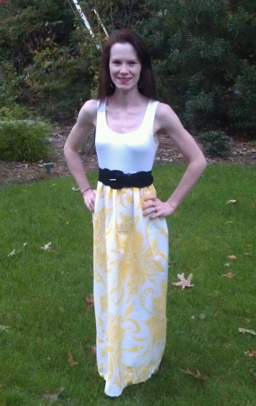 Cute Tank Top Dress Diy Maxi Dress Maxi Dress Pattern Diy Dress [ 1024 x 842 Pixel ]