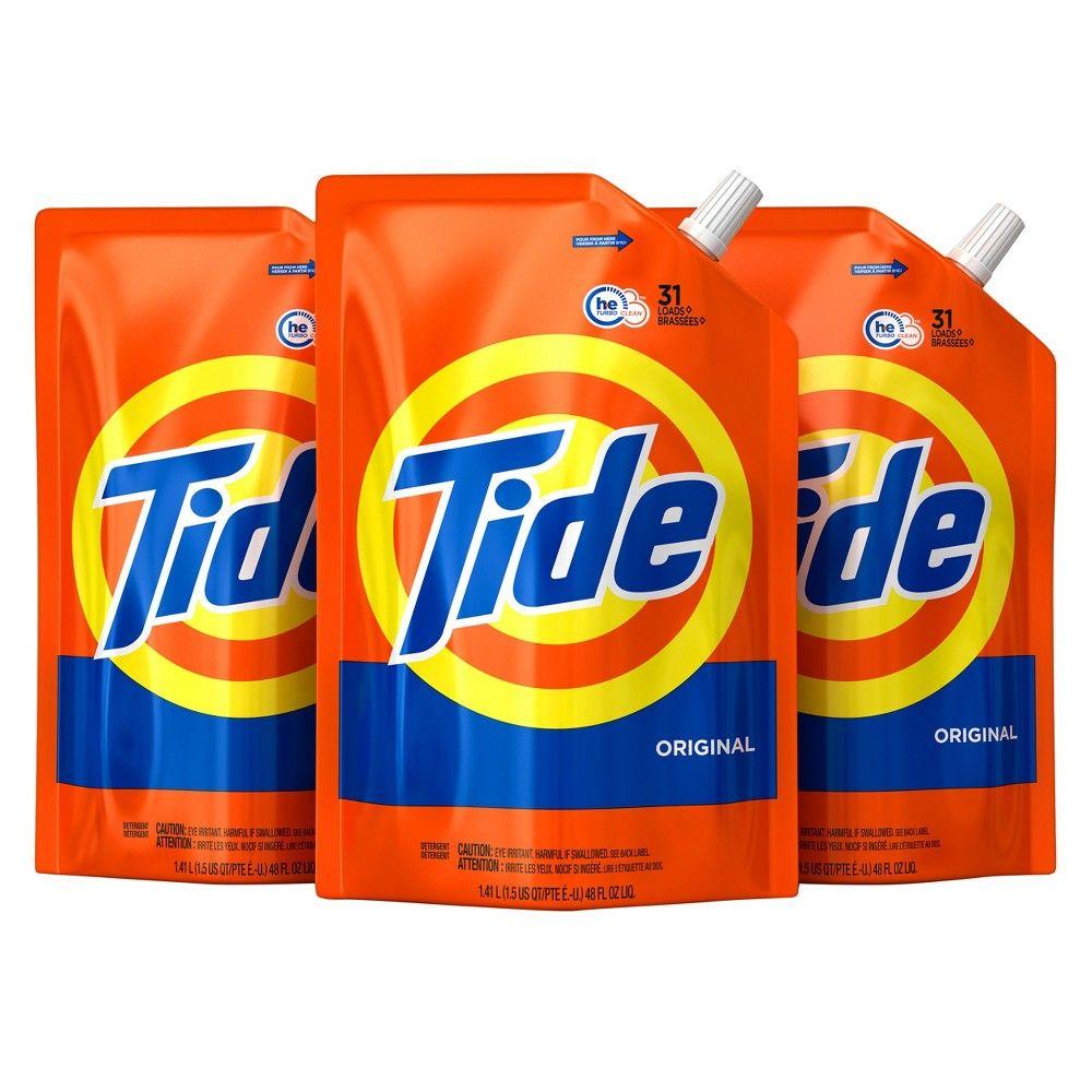 Tide Original Liquid Laundry Detergent 48 Fl Oz 3pk Laundry