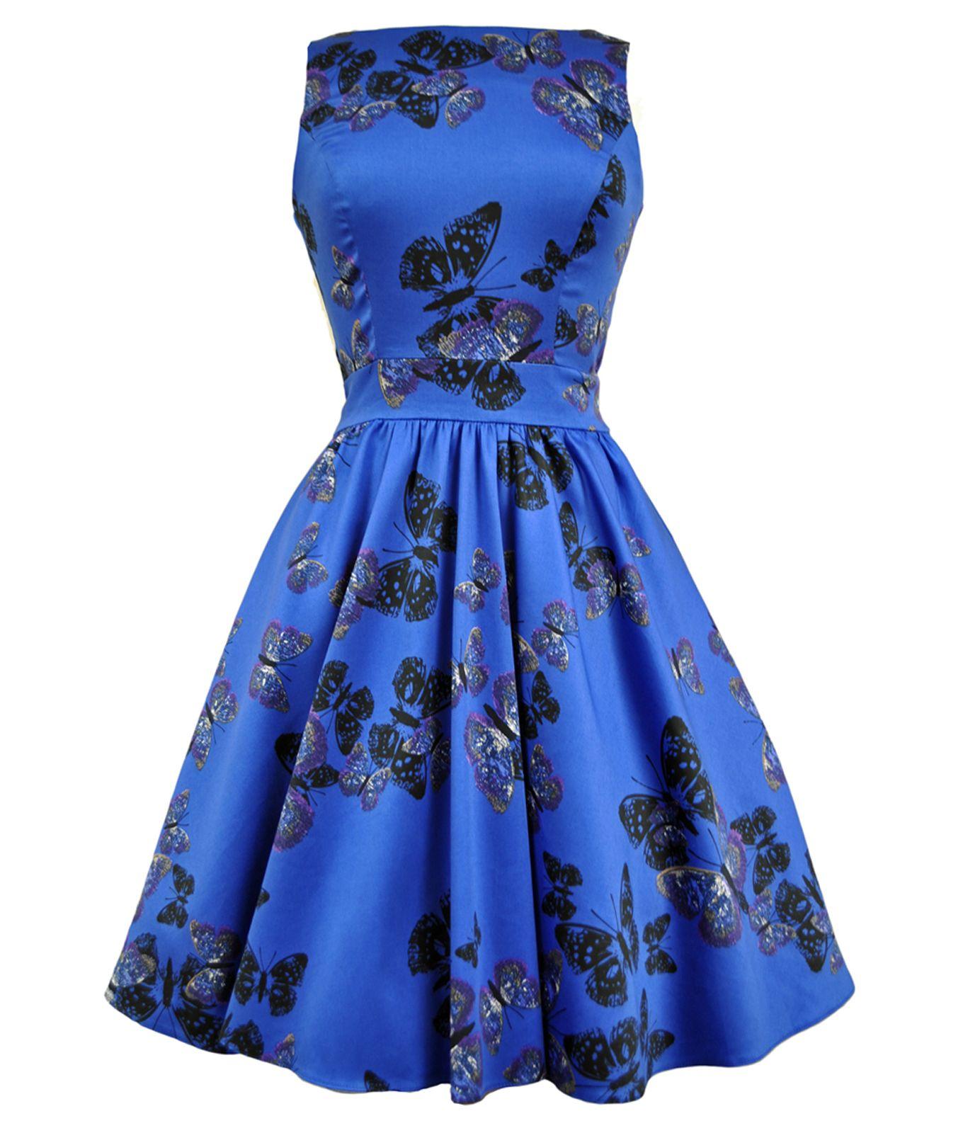Lady Vintage 50 S Butterfly Hepburn Dress In Blue Vintage Tea Dress Butterfly Print Dress Vintage Dress Blue [ 1600 x 1360 Pixel ]