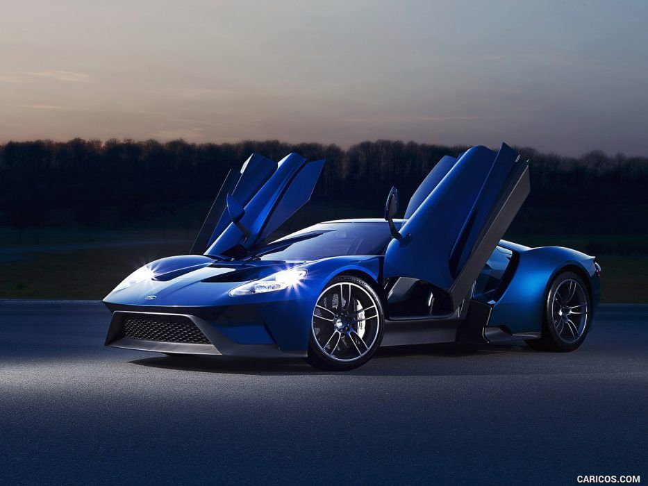 Ford Gt Blue Open Doors