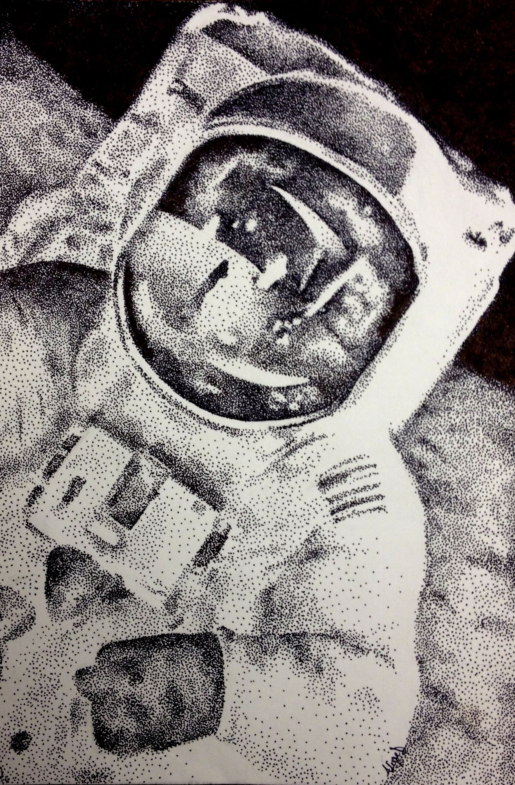Astronaut Stippling Pen Amp Ink Alyse D