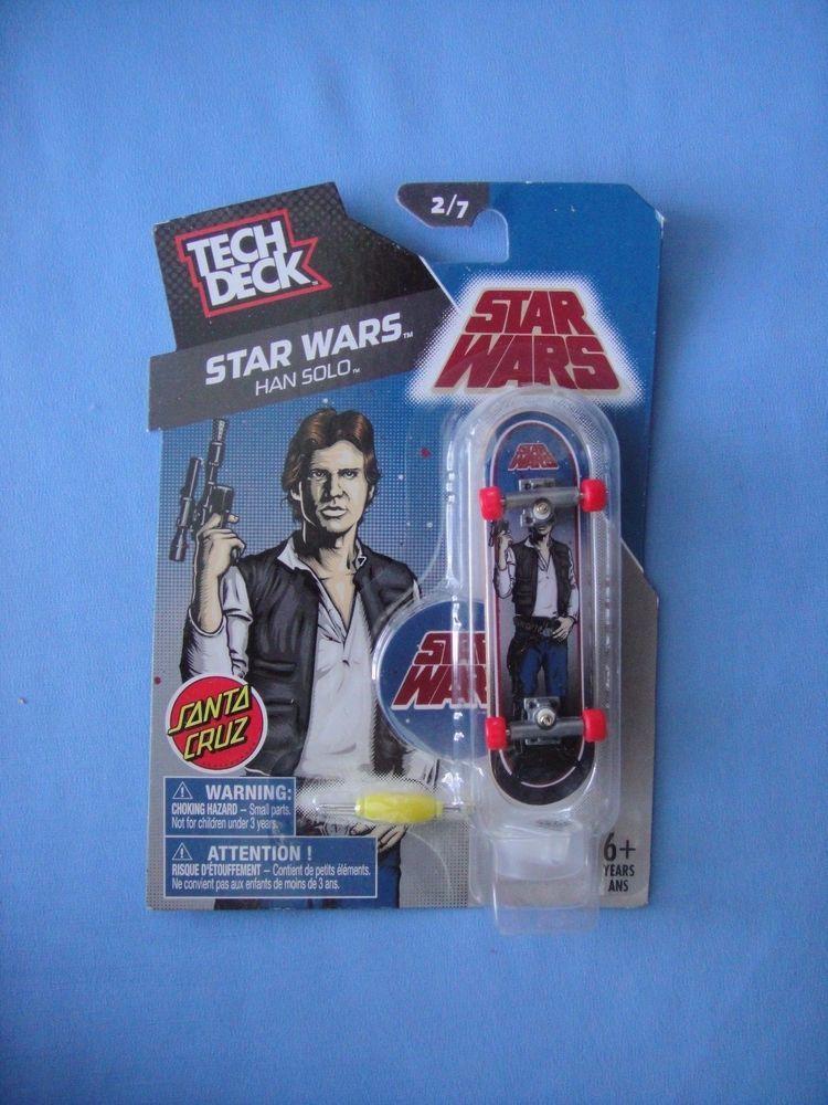 ee8162e02b1200 2014 Tech Deck SANTA CRUZ Star Wars HANS SOLO Harrison Ford Skateboard