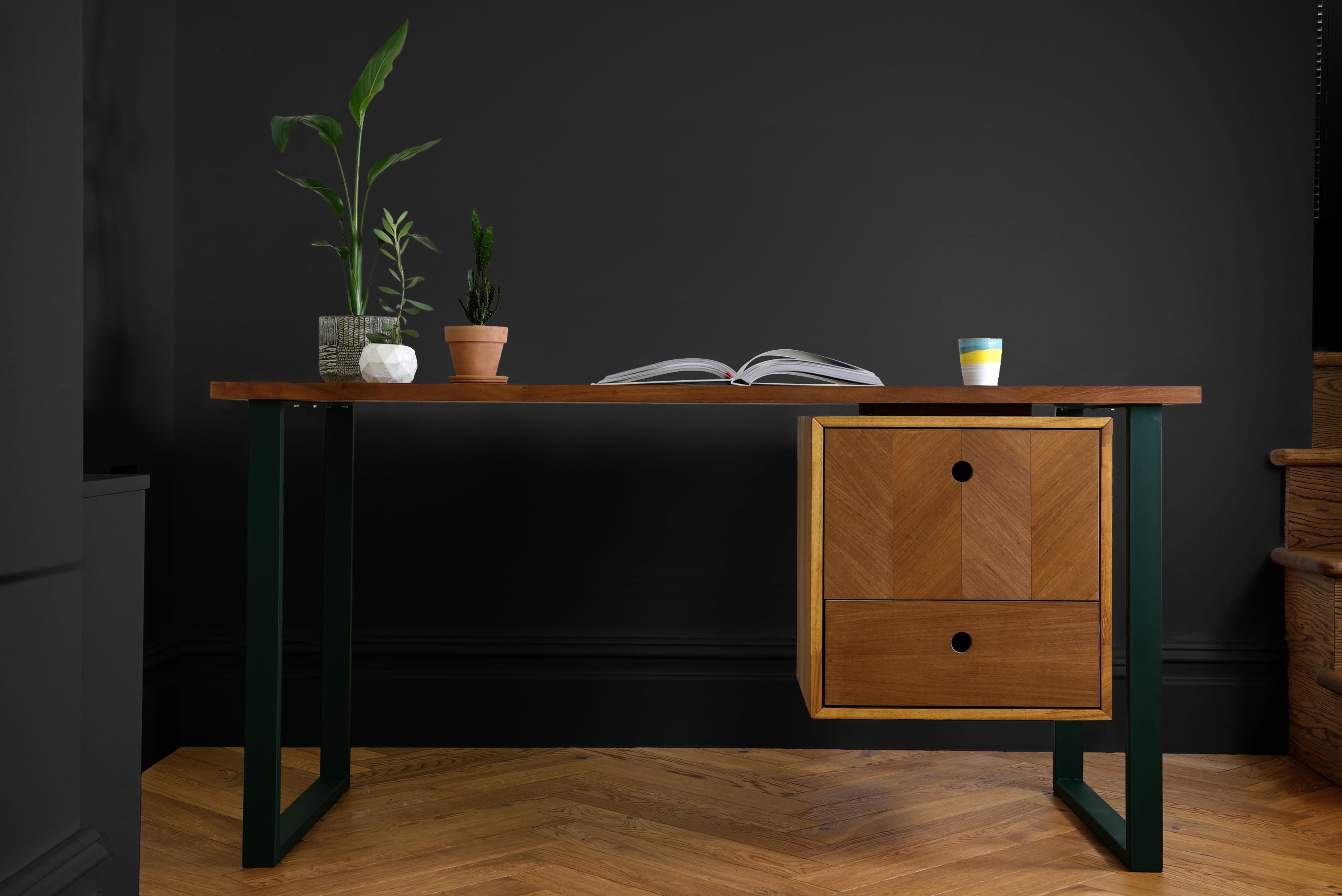 Mythology Artemis Desk In 2020 Desk With Drawers Scandinavian Style Desk Industrial Desk