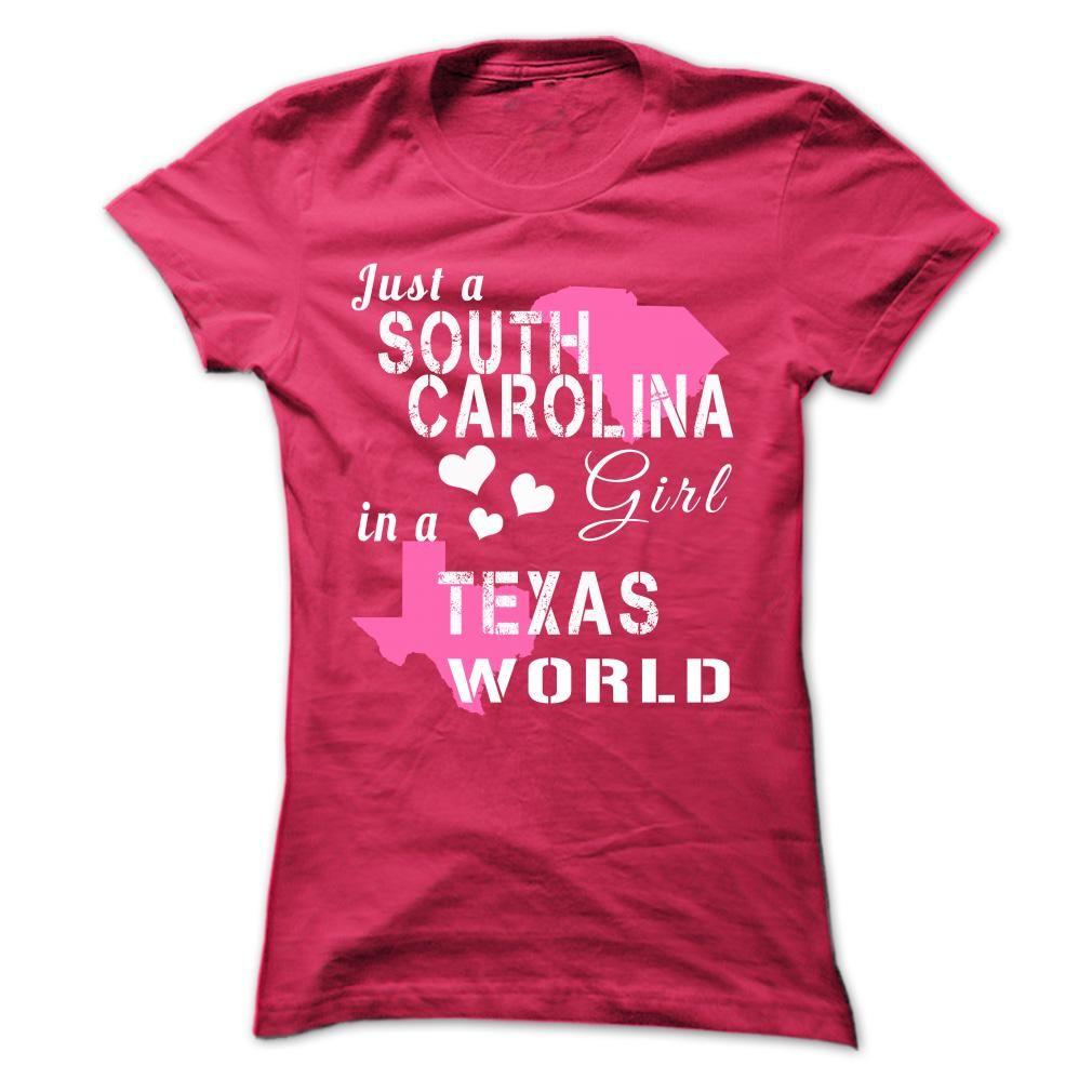 SOUTH CAROLINA girl in TEXAS world Hoodie shirt, Shirts