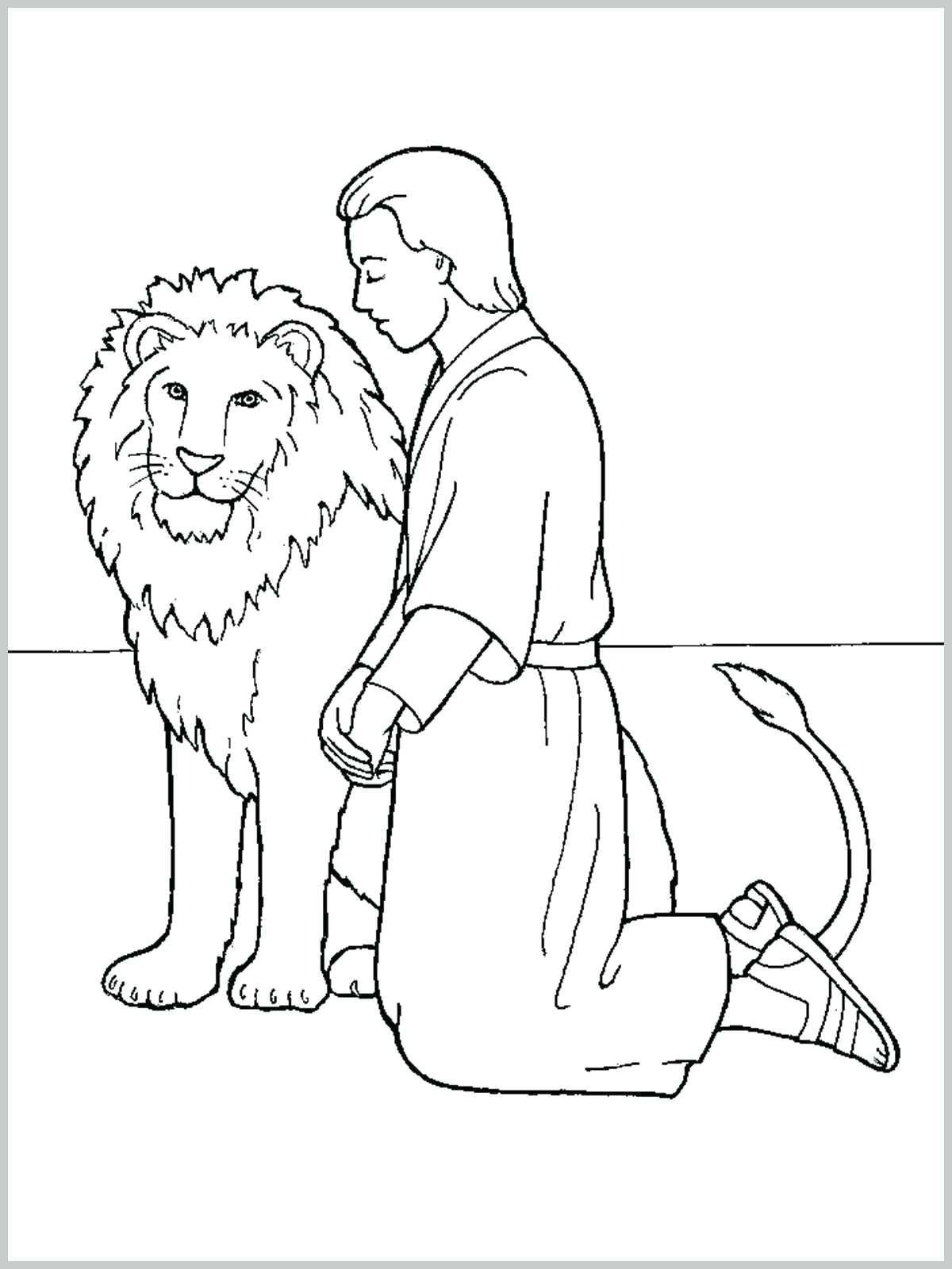 10 Coloring Page Of Daniel In The Lions Den Daniel And The Lions Lion Coloring Pages Coloring Pages