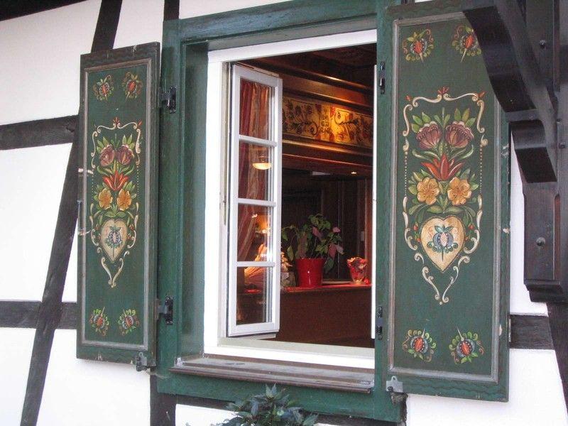 Alsace Volets Joliment Peint Decor En 2019 Paysage France