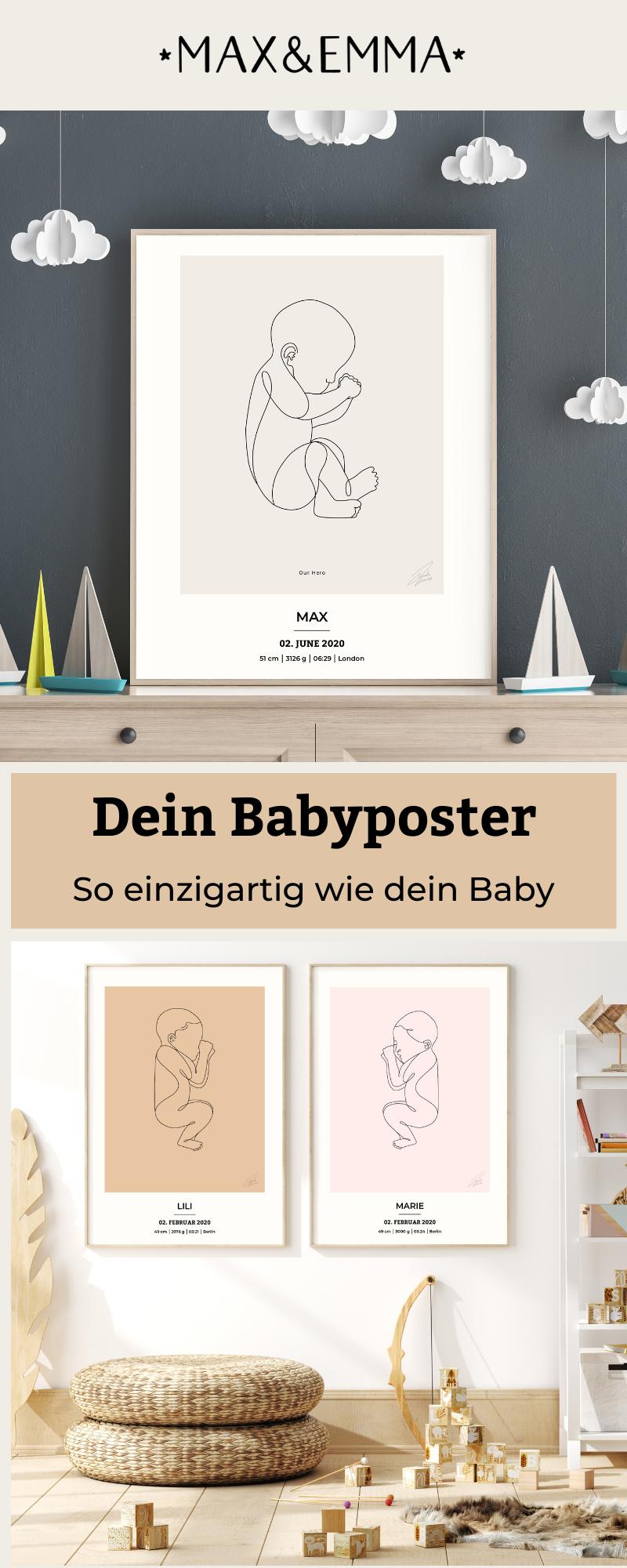 Das süßeste Poster für dein Babyzim