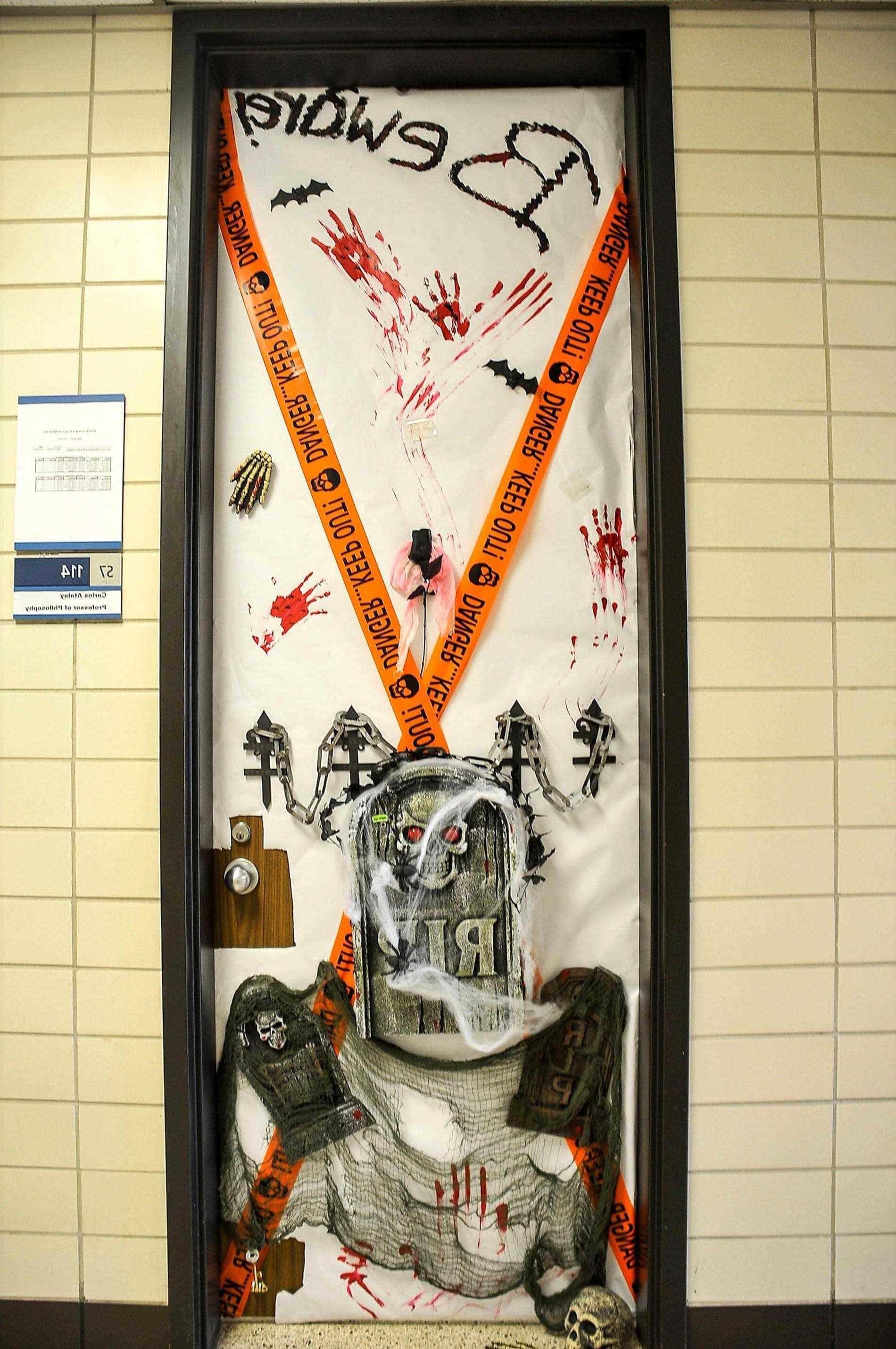 DIY Halloween Door Ideas Funky Designs For A Scary Festival