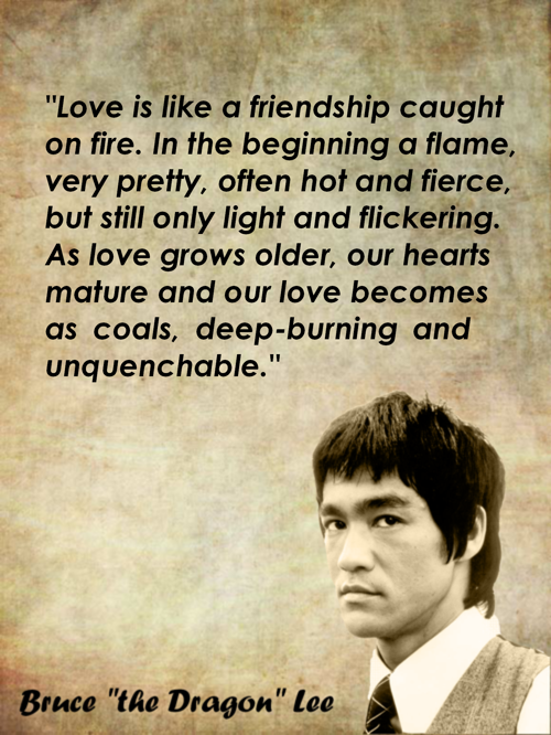 Bruce Lee Quote On Love Bruce Lee Quotes Warrior Quotes Martial Arts Quotes