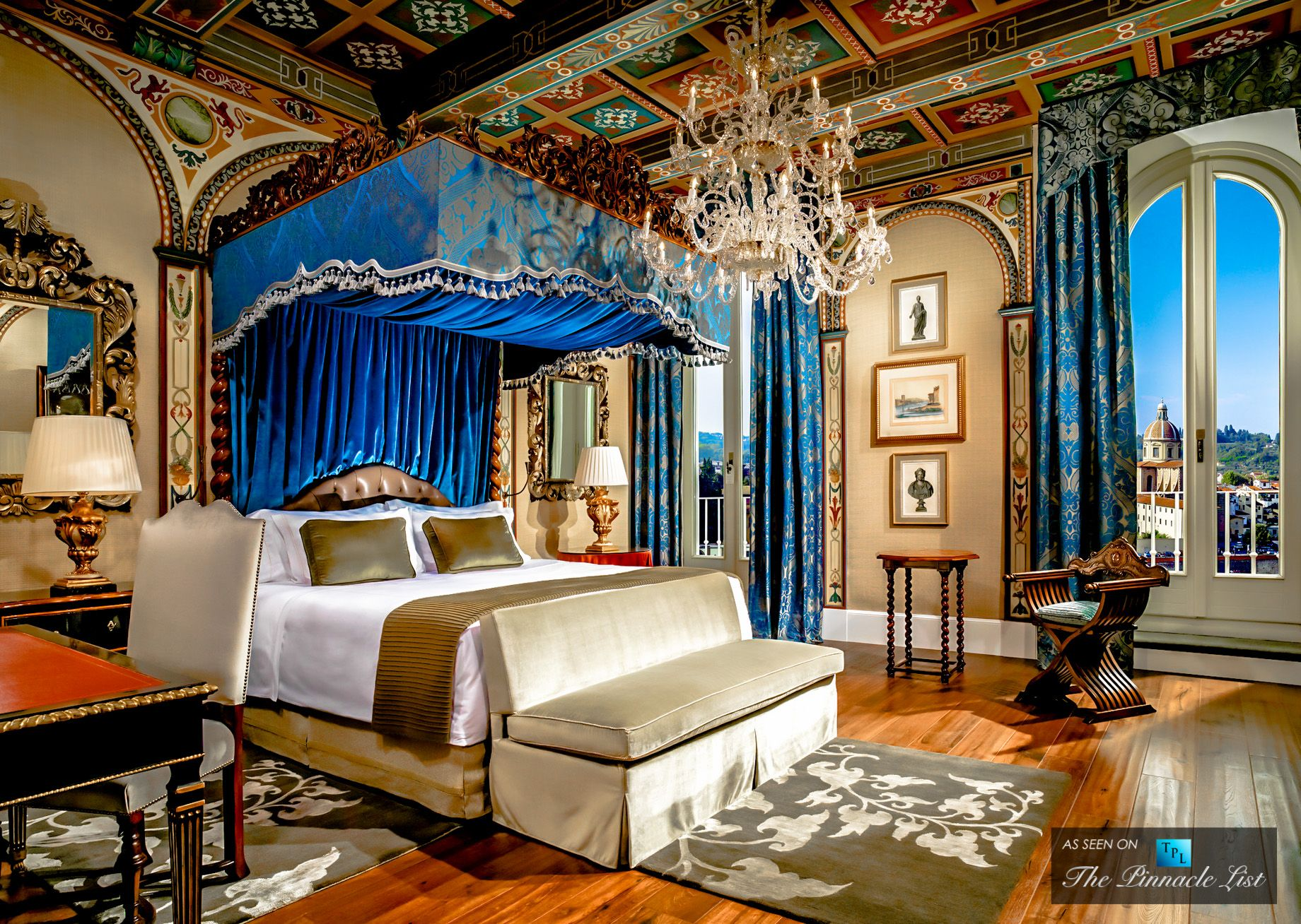 St Regis Luxury Hotel Florence Italy Royal Suite Gioconda Master Bedroom Classic