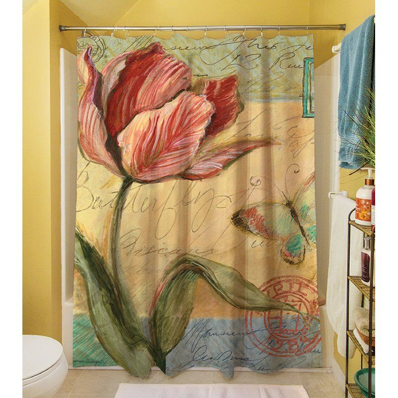 Loretta Tulip Single Shower Curtain Tulip Shower Curtain Tulips