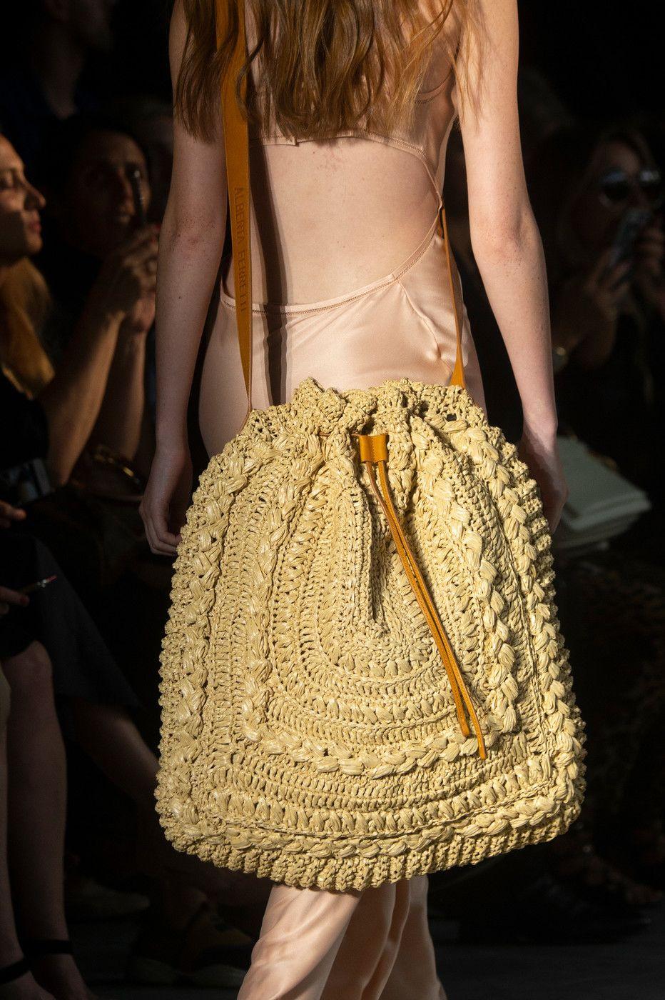 c6eb6169d6d Alberta Ferretti at Milan Fashion Week Spring 2019 - Details Runway Photos  Haute Couture Bags,
