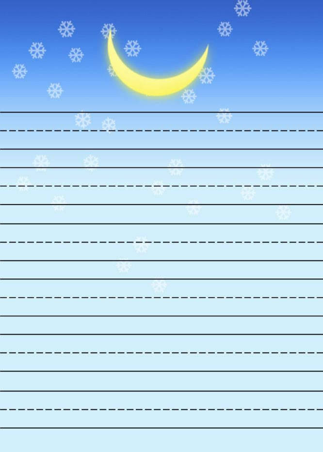 stars and moon Free printable kids stationery, free primary lined ...