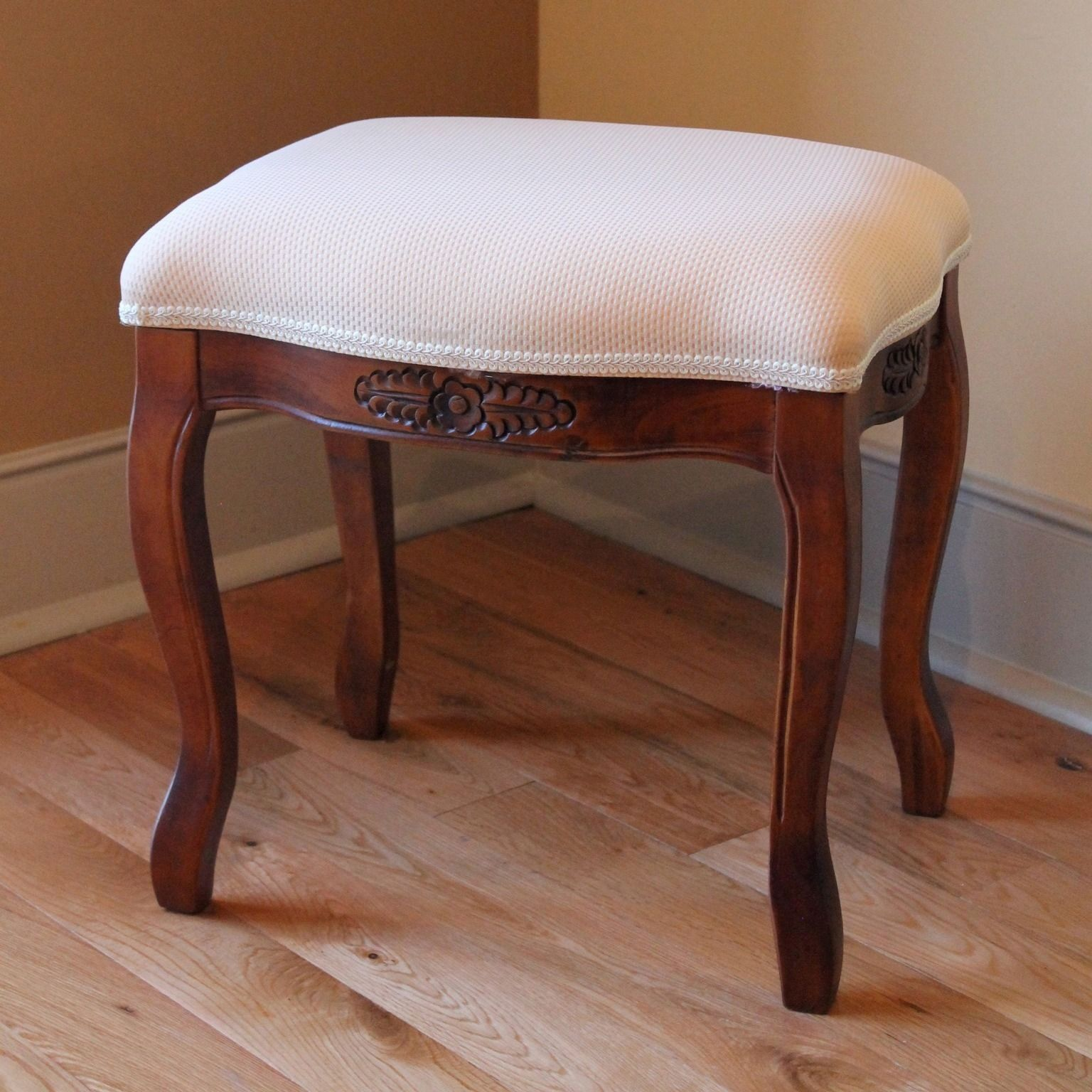 Enhance Your Home Decor With This Vanity Stool With Cushioned Top Furniture Is Made Of