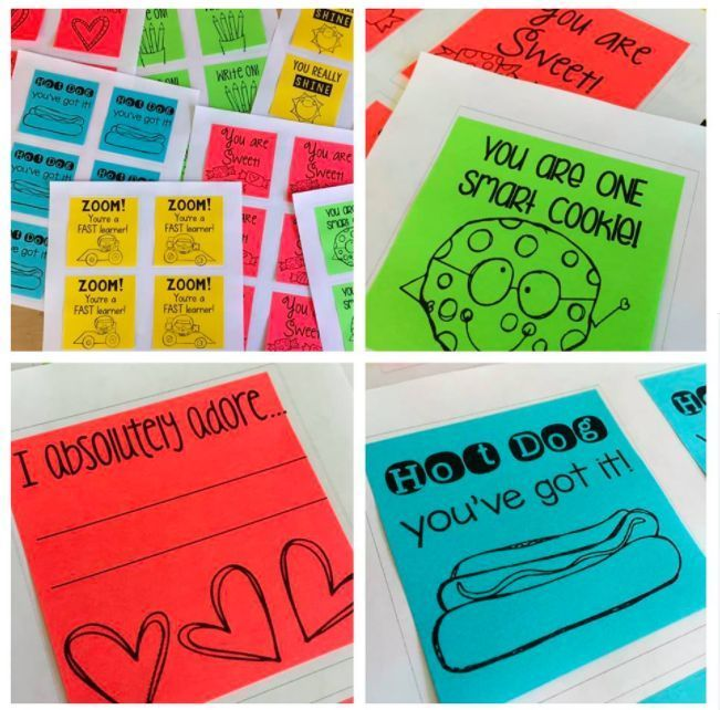 """""""I use these Printable Post-Its for a quick and easy way to celebrate student success! They're a super simple way to recognize a student being awesome!"""" says Lucky to Be in First. Get yours and start praisin' away!"""