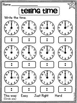 First Grade Math Unit 15 First Grade Math Worksheets First Grade Math Time Worksheets Math worksheets for grade time
