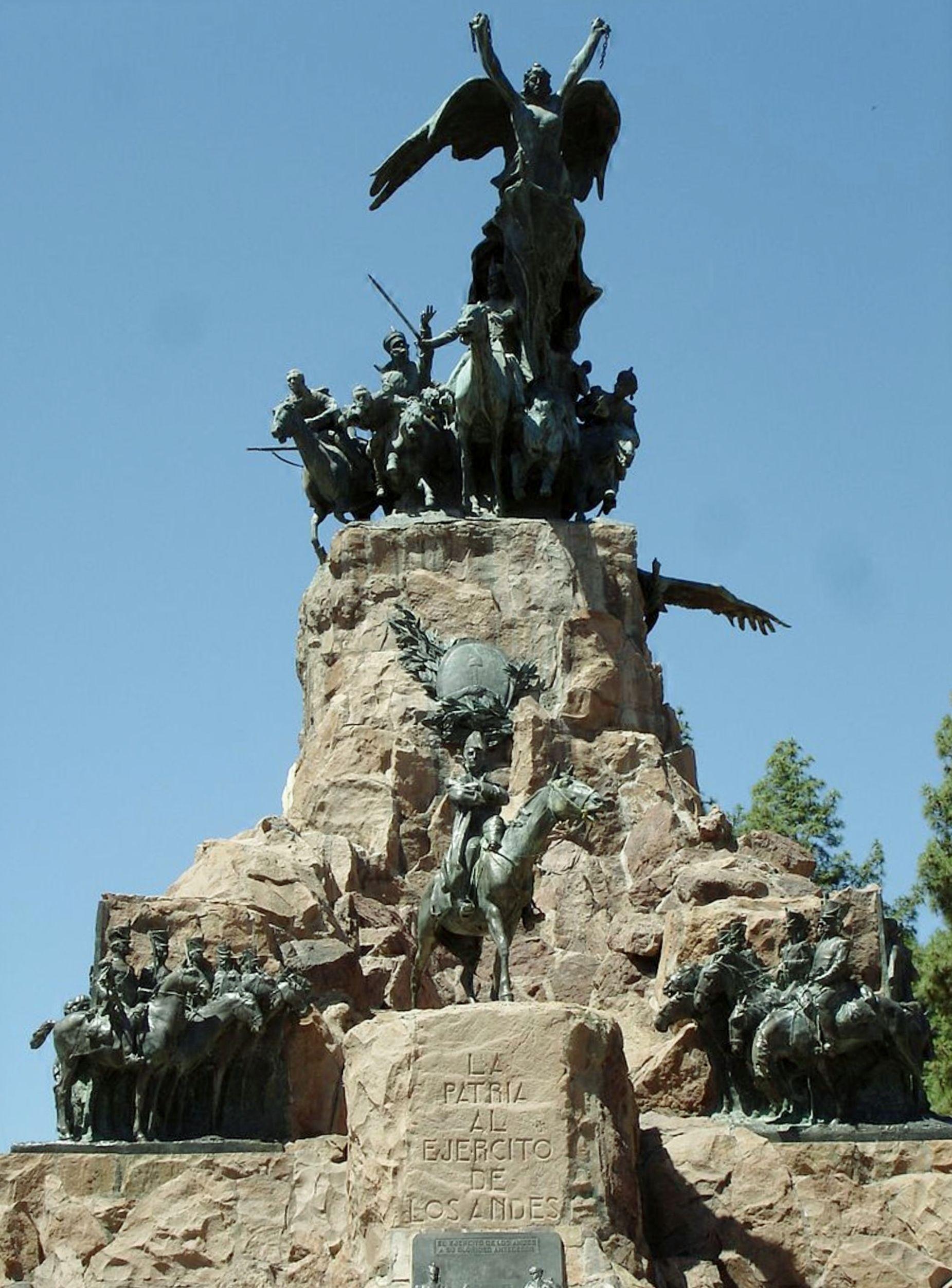 Monumento al Ejército de Los Andes, Cerro de la Gloria, Provincia de Mendoza, Argentina