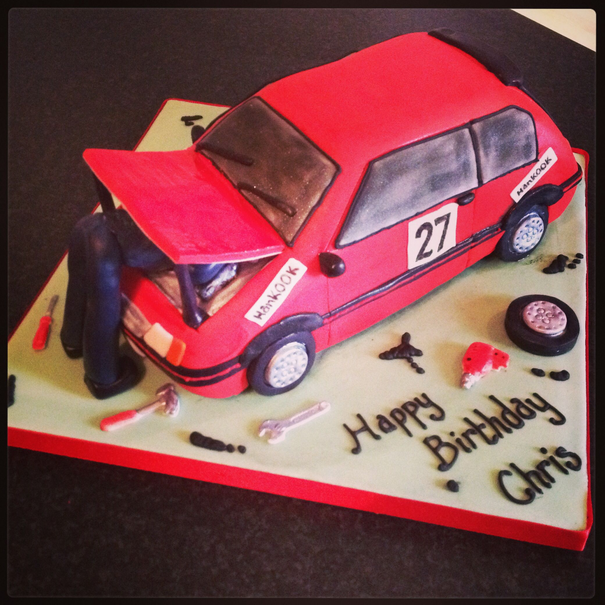Rally Car Cake Ideas