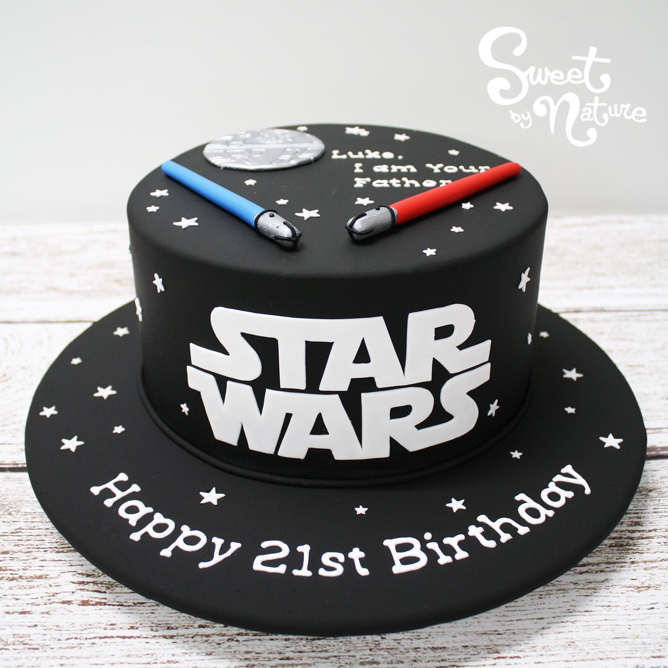 Pleasing Star Wars Themed 21St Birthday Cake Simple But Fun Made By Funny Birthday Cards Online Fluifree Goldxyz