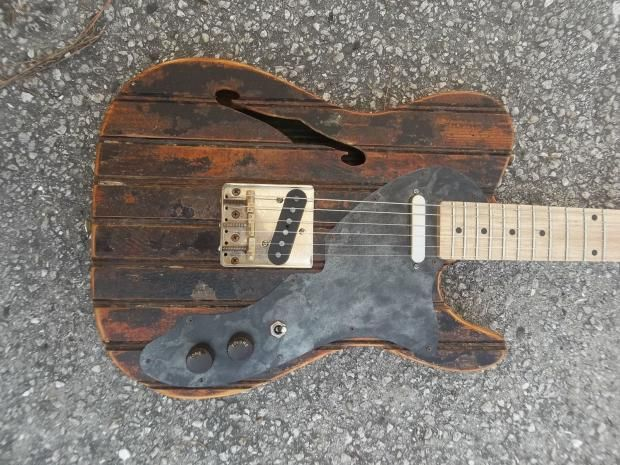 Roadhouse Guitar Works Thinline Brothelcaster / Telecaster Style ...