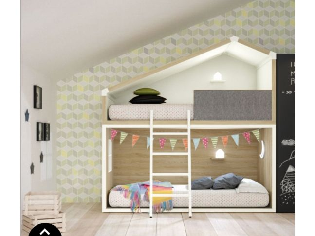 Lit Superpose Decale Personnalisable Avec Tiroir De Rangement Chambre Enfant Chambre Enfant Moderne Lit Superpose
