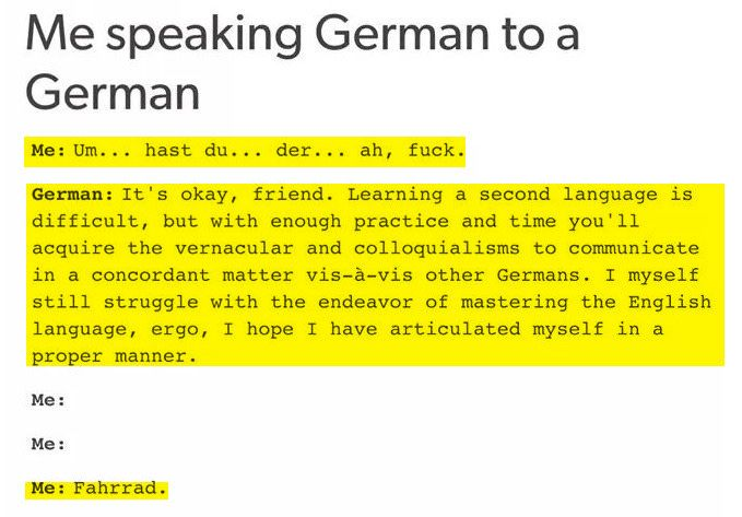 entirely deutsch