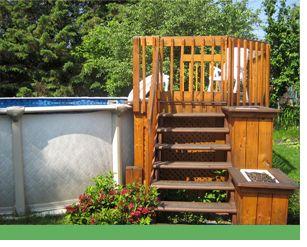 Patio design piscine hors terre recherche google for Construire deck piscine