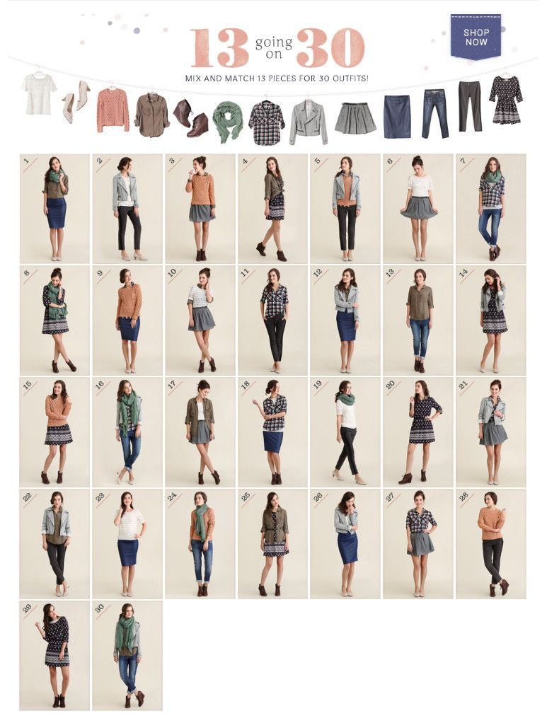 A Good Template For A Capsule Wardrobe, Perfect For A