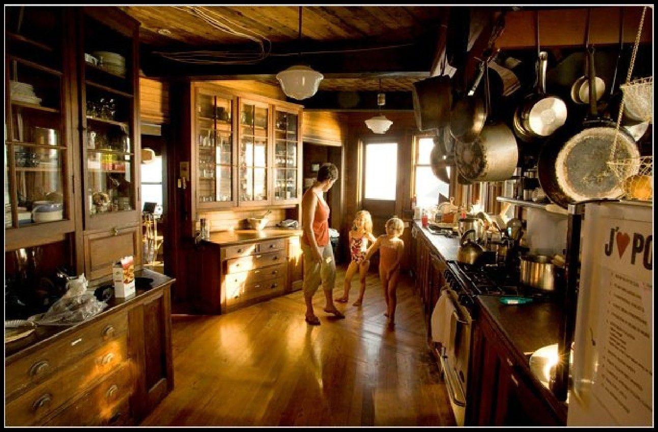 unique kitchen design ideas in wooden house design on an ...