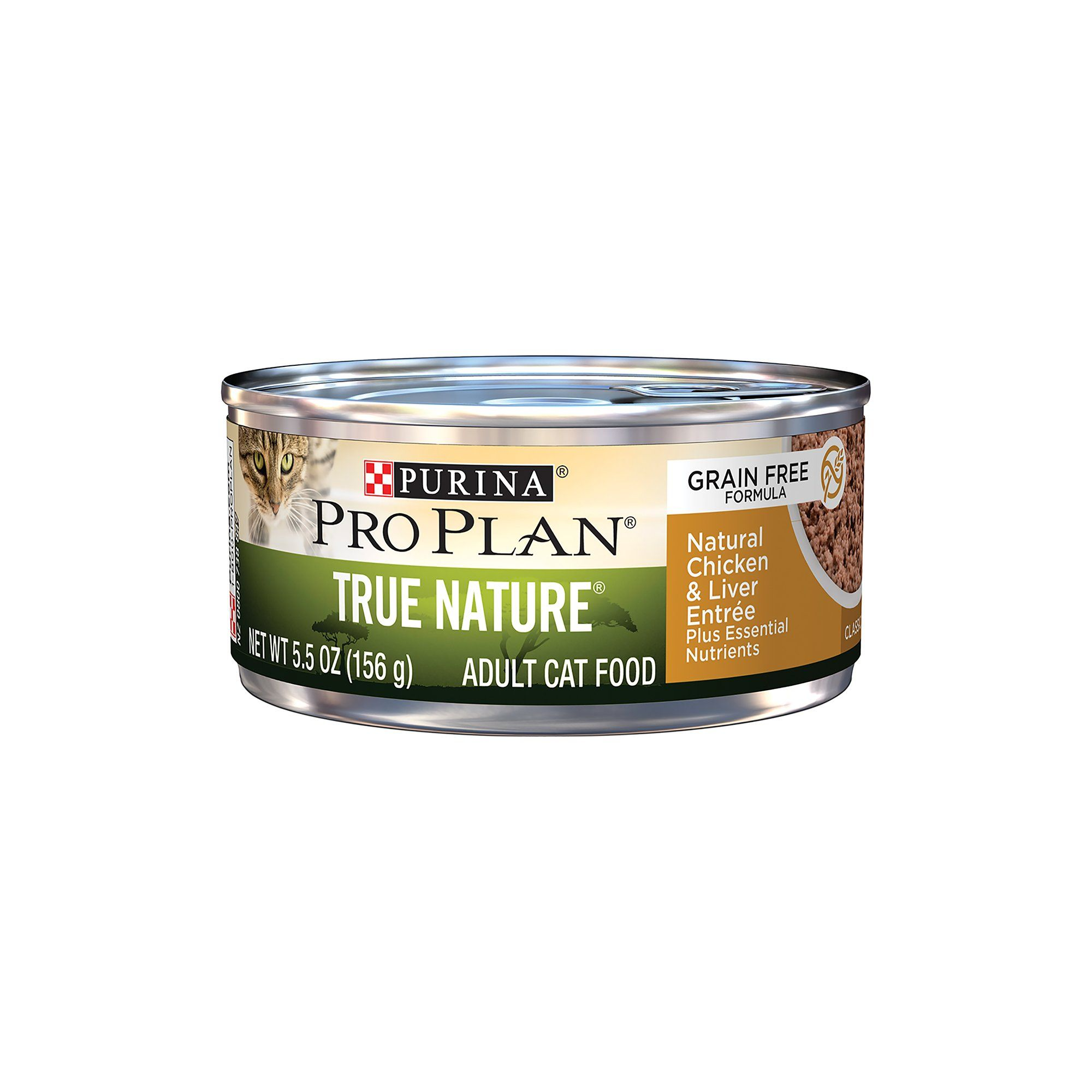 Purina Pro Plan True Nature Grain Free Formula Natural Chicken Liver Entree Wet Cat Food 5 5 Oz Case Of 24 Grain Free Canned Cat Food Cat Food