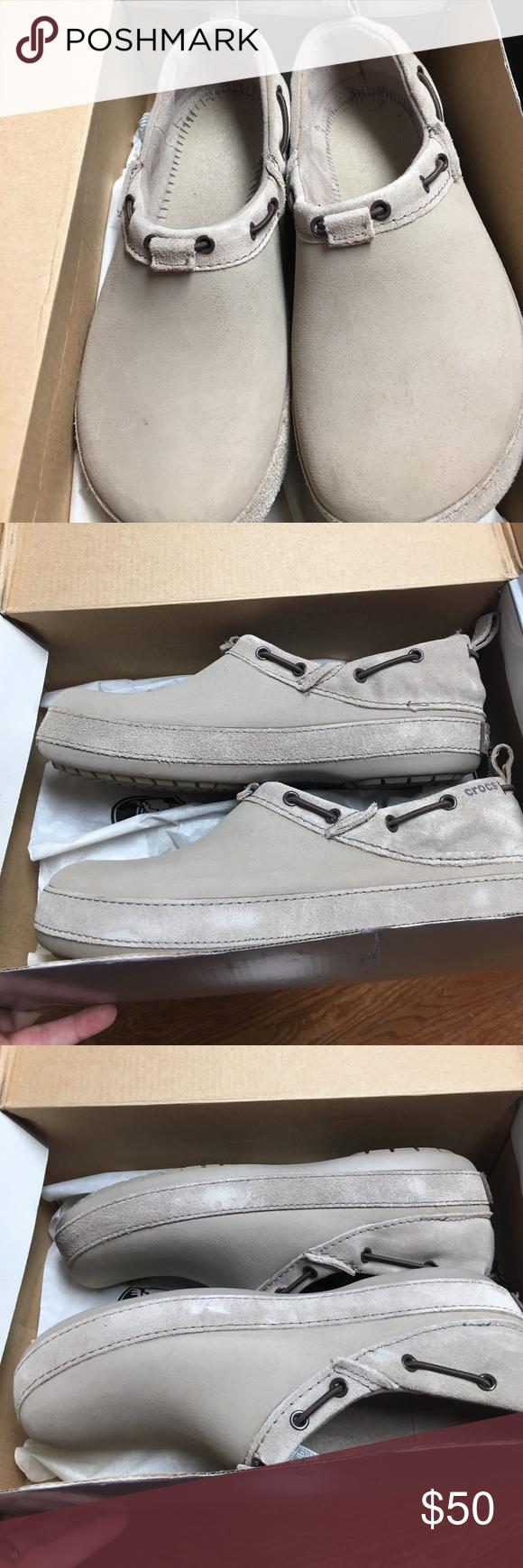 212baf3089 Croc nursing shoes EUC. Very little wear and markings. Mushroom color CROCS  Shoes Mules & Clogs