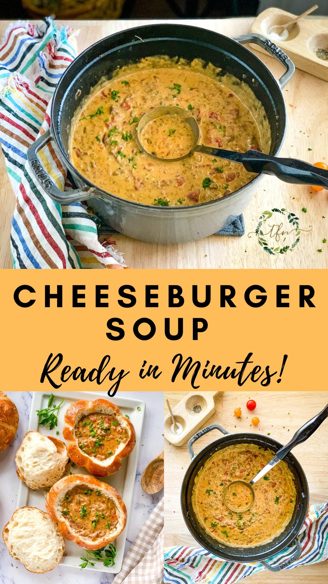 Easy Velveeta Cheeseburger Soup