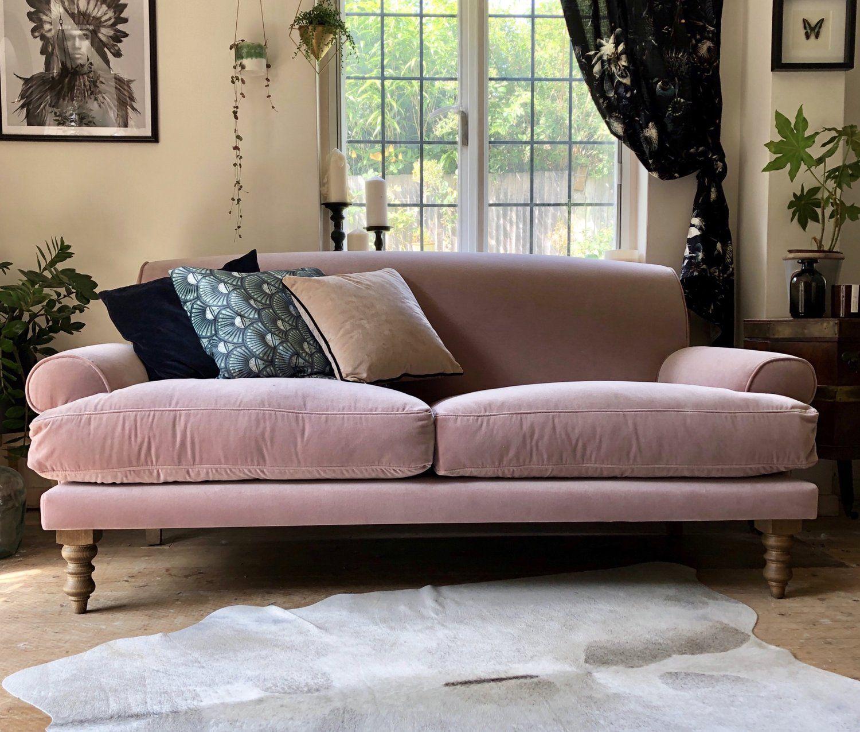 One Pink Velvet Sofa..... Styled three ways — HORNSBY ...