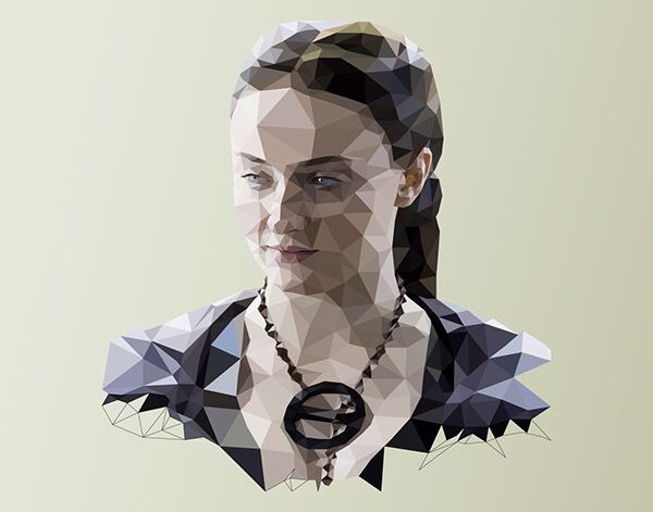 Game of Thrones - Low poly illustrations for The Washington Post. #gameofthrones #got #lowpoly