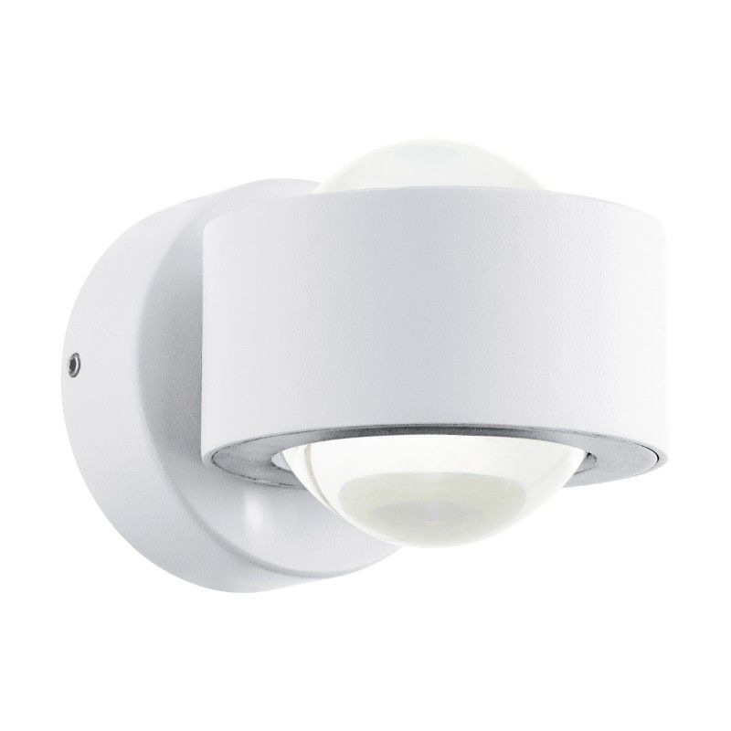 Modern Rounded White Wall Light In A Minimalist Style Made Of Metal For A Hallway Office Living Room Walllight Sconc Eglo Led Lights Modern Light Fixtures