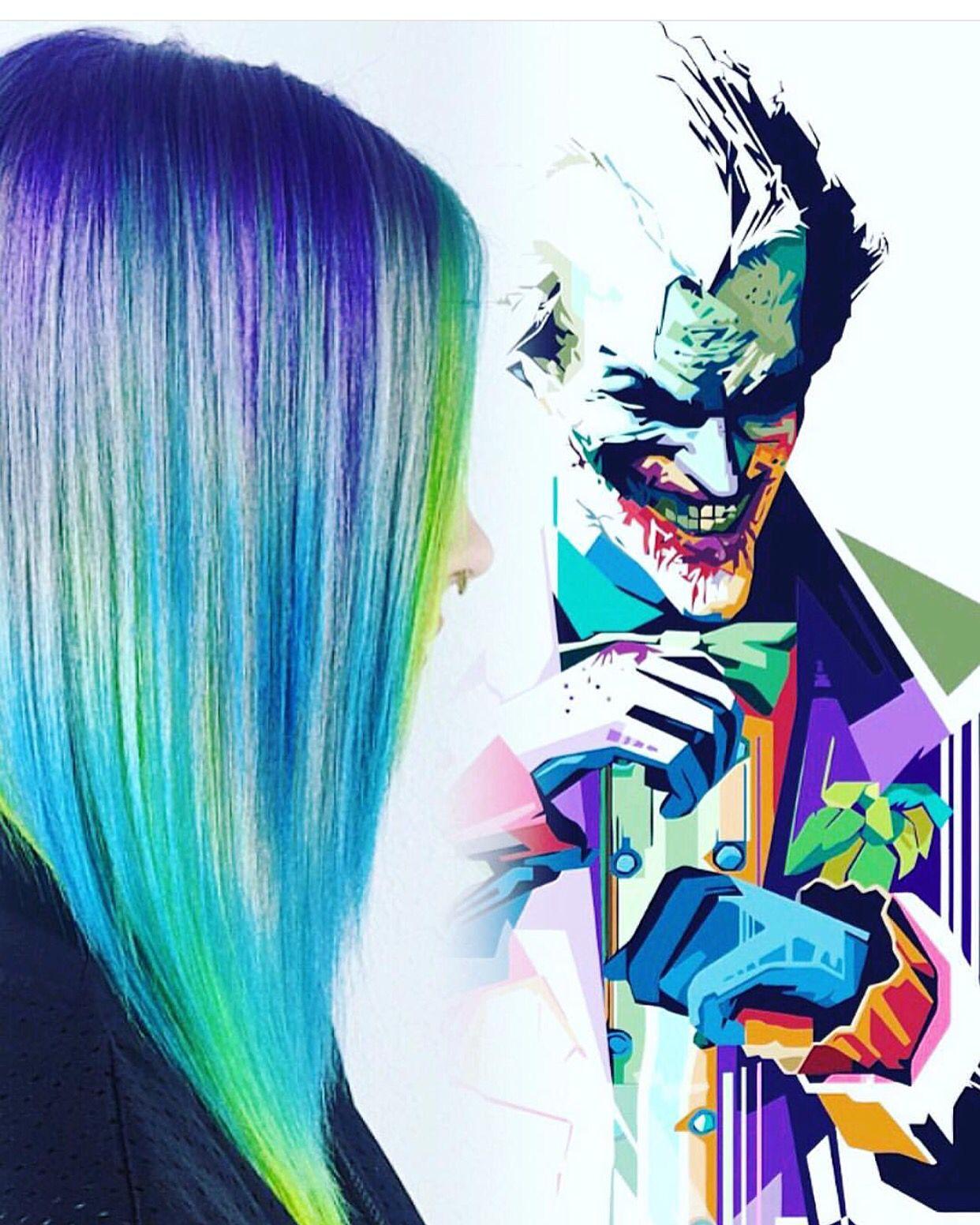 Art color hair - Joker S Wild By Rickey Zito Interpretive Hair Art Rainbow Hair Painting Hotonbeauty Com