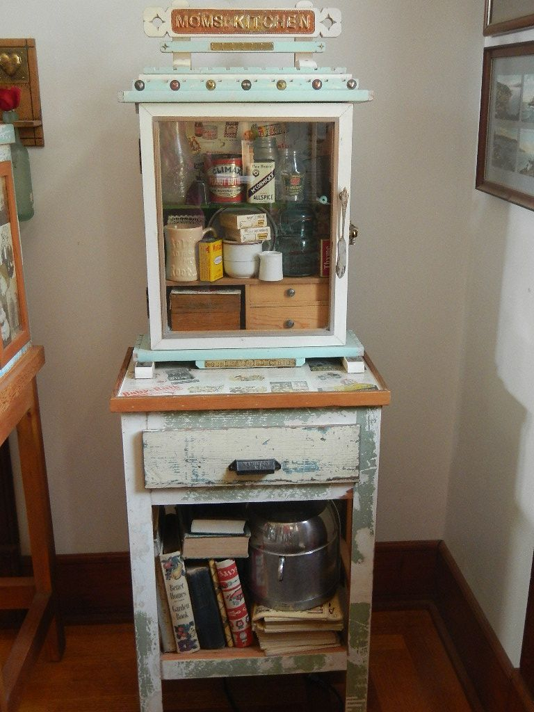 Moms kitchen curio all reused old