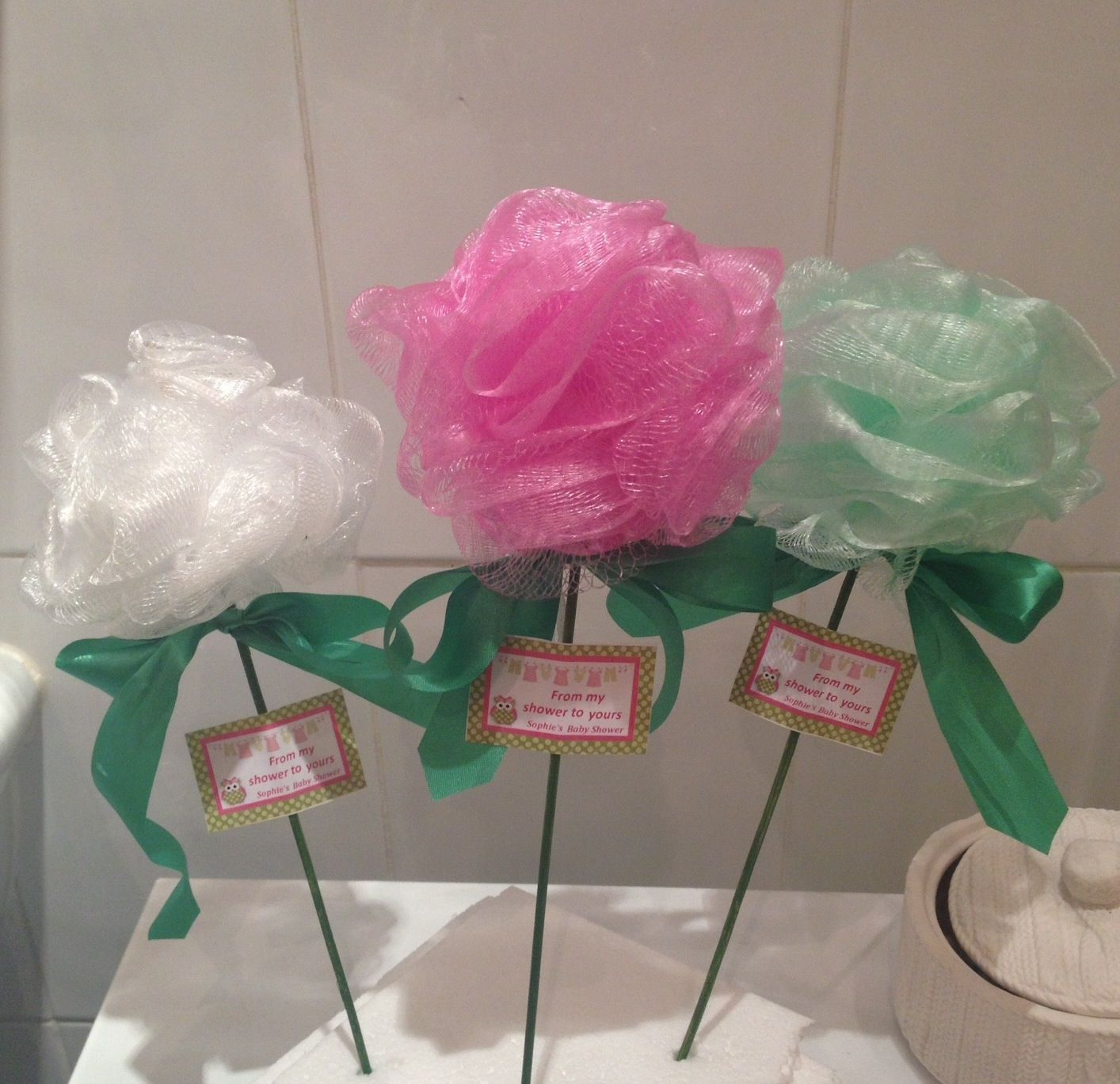 From My Shower To Yours Baby Shower Favors