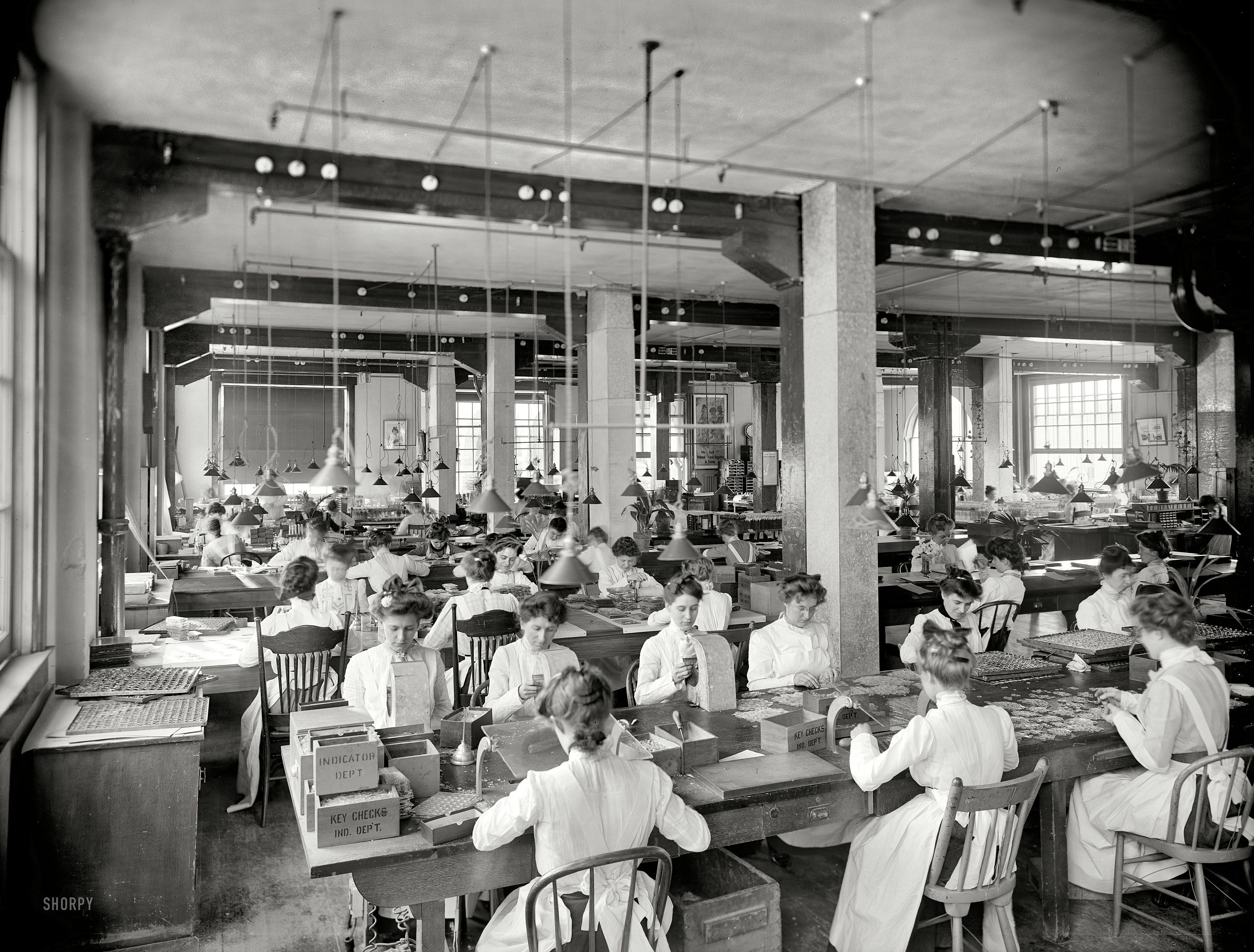 Dayton Ohio Circa 1902 Indicator Department National Cash Register Co Our Second Glimpse This Mont Shorpy Historical Photos History Usa History Pictures