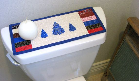 Toilet Tank Topper Table Runner Quilted Mug By Mondaymondaydesign Toilet Tank Mug Rug Quilted Table Runners