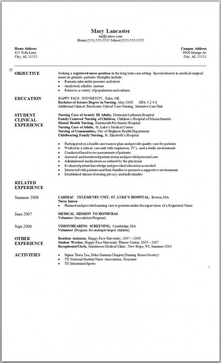Resumes Templates Microsoft Word  Resume Template Ideas  Resume