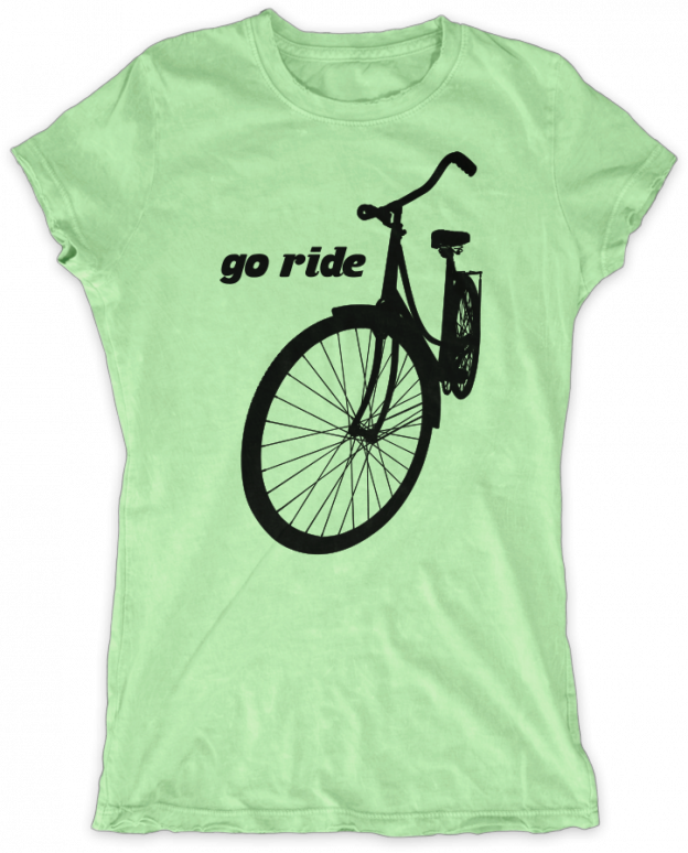 Evoke Apparel - Go Ride Womens Graphic T-shirt, $27.00 (http://www.evokeapparelcompany.com/go-ride-womens-graphic-t-shirt/)  Get out their and ride your bicycle while wearing this womens graphic t-shirt.