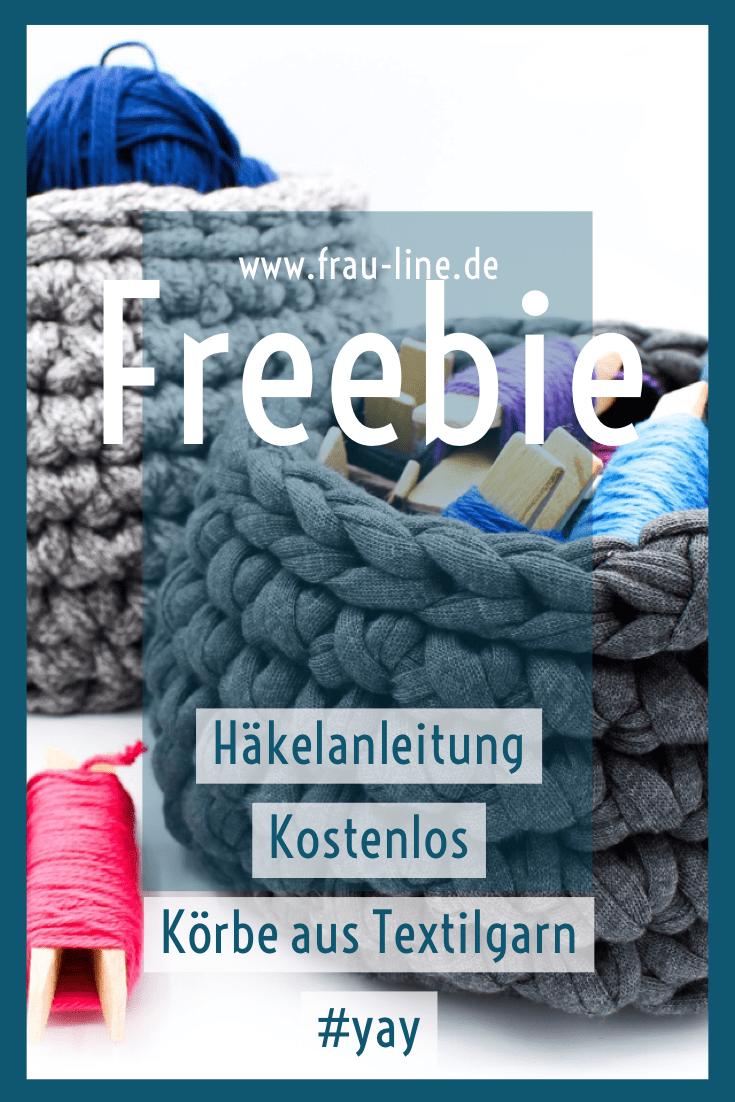 Photo of Häkelanleitung der Woche: Körbe aus Textilgarn – Frau Line Körbe aus Textilgarn