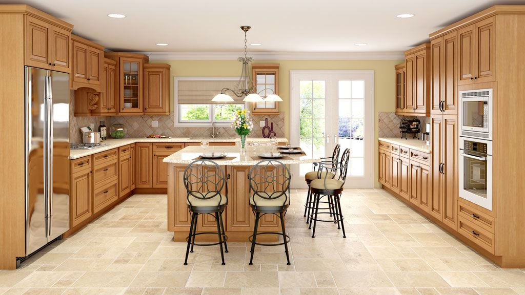 Sahara S Nutmeg Finish With A Soft Chocolate Gives This Classic Raised Panel A Timeless Traditio Kitchen Cabinets Espresso Kitchen Cabinets Traditional Kitchen