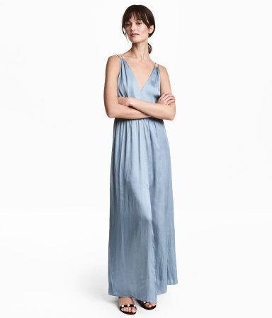H m kleider damen blau